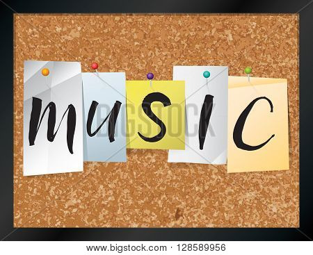 Music Bulletin Board Theme Illustration
