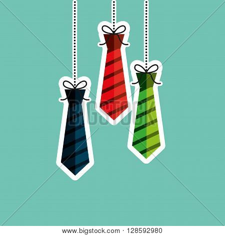 ties hanging design, vector illustration eps10 graphic