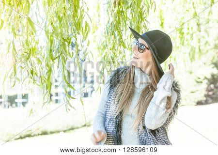 Adorable Woman In Sunglasses