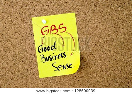 Business Acronym Gbs Good Business Sense