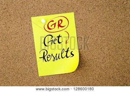 Business Acronym Gr Get Results