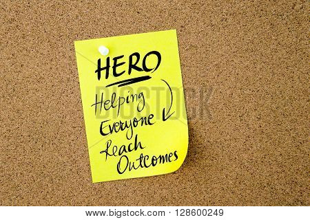 Business Acronym Hero Helping Everyone Reach Outcomes