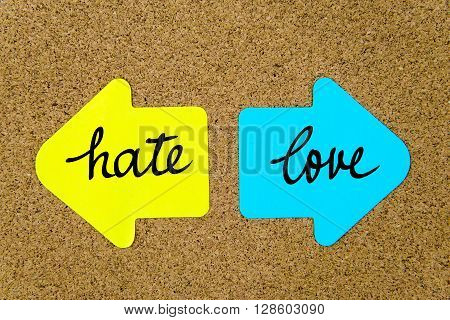 Message Hate Versus Love