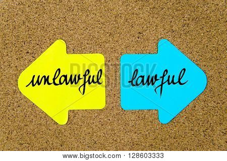 Message Unlawful Versus Lawful