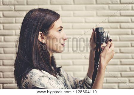 Photographic Travel Destination Trendy Camera Concept