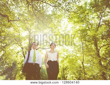 Green business couple.