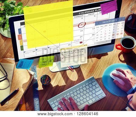 Calendar Planner Planning Organizer Note Concept