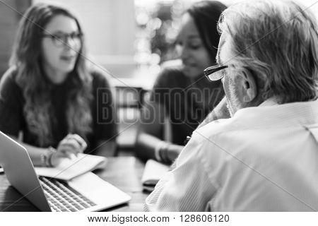Teacher Students Meeting Talking Planning Concept
