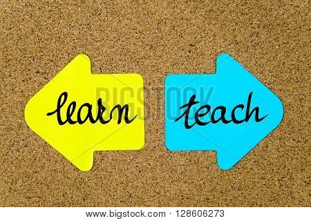 Message Learn Versus Teach