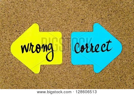 Message Correct Versus Wrong