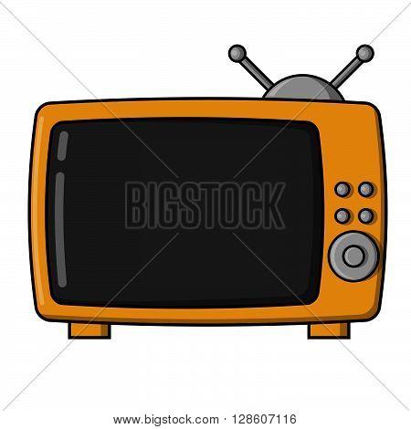 Old television illustration. eps10 editable vecor illustration design