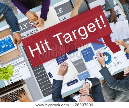 Hit Target Goal Aim Aspiration Business Customer Concept