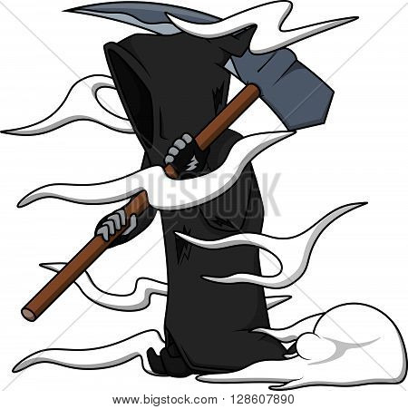 Grim reaper carton illustration .eps10 editable vector illustration design