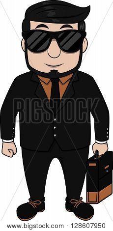 Cool executive man .eps10 editable vector illustration design