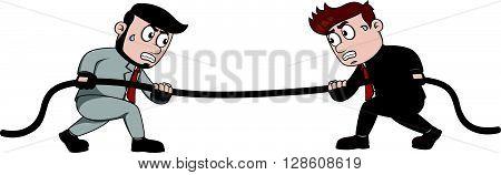 tug war business man .eps10 editable vector illustration design