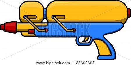 Water gun cartoon illustration  .eps10 editable vector illustration design
