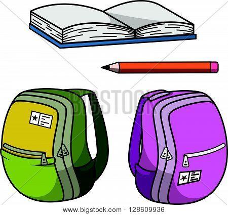 School stationery cartoon  .eps10 editable vector illustration design
