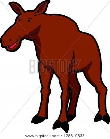 Female moose illustration .eps10 editable vector illustration design