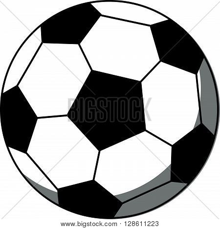 soccer ball cartoon .eps10 editable vector illustration design