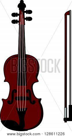 Violin cartoon illustration .eps10 editable vector illustration design