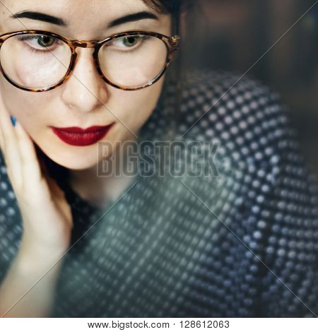 Asian Female Trendy Stylish Beautiful Concept