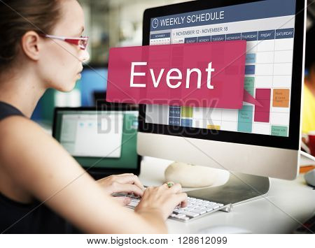 Event Happening Incident Occation Schedule Concept
