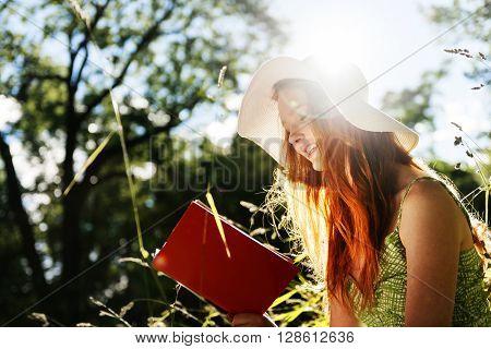 Woman Portrait Relax Nature Concept