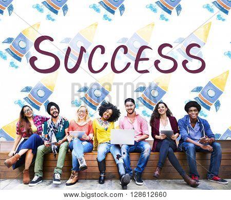 Success Win Achievement Improvement Text Concept