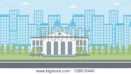 Background of educational building.