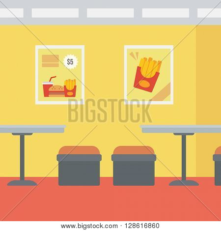 Background of fast food restaurant.