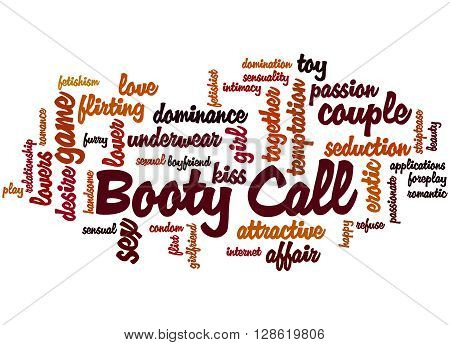 Booty Call, Word Cloud Concept 2