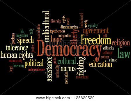 Democracy, Word Cloud Concept
