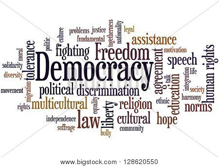 Democracy, Word Cloud Concept 3