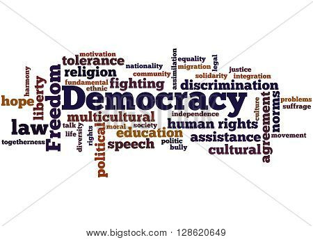 Democracy, Word Cloud Concept 8