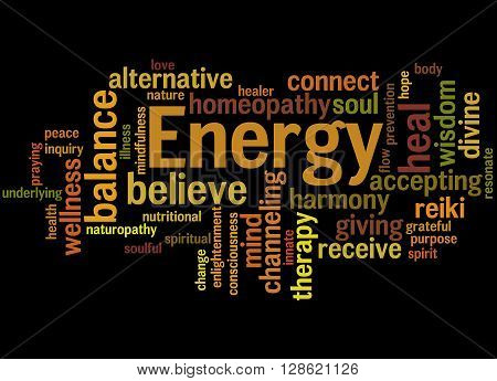 Energy, Word Cloud Concept 2