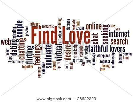 Find Love, Word Cloud Concept 2