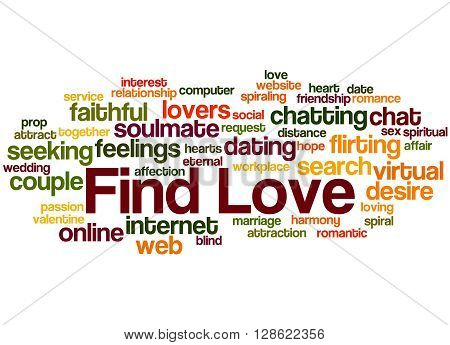 Find Love, Word Cloud Concept 5