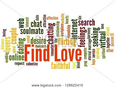 Find Love, Word Cloud Concept 8