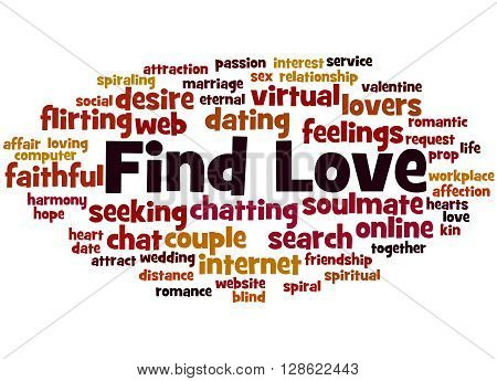 Find Love, Word Cloud Concept 9