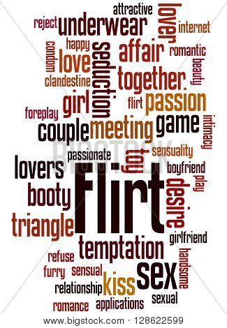 Flirt, Word Cloud Concept 3