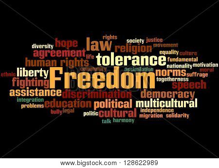 Freedom, Word Cloud Concept 4