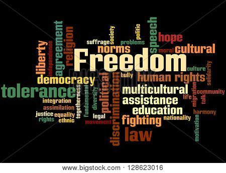 Freedom, Word Cloud Concept 6