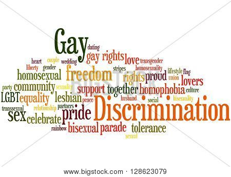 Gay Discrimination, Word Cloud Concept