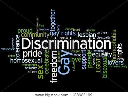Gay Discrimination, Word Cloud Concept 7