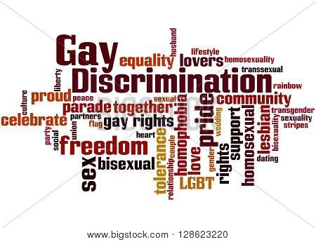 Gay Discrimination, Word Cloud Concept 9