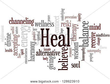 Heal, Word Cloud Concept 2