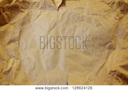 Closeup of brown paper texture