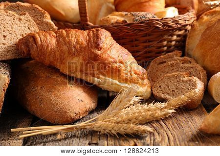 assorted bread and croissant