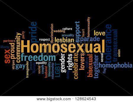 Homosexual, Word Cloud Concept 2