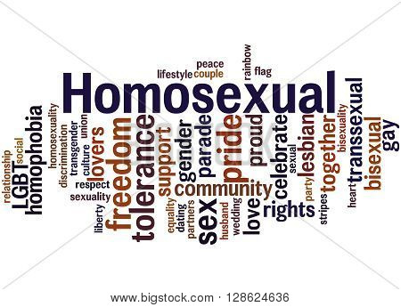Homosexual, Word Cloud Concept 7